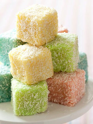 Cake squares for Australian traditional cuisine